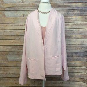 Torrid light pink open front blazer 4
